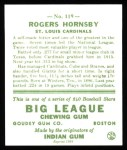 1933 Goudey Reprint #119  Rogers Hornsby  Back Thumbnail