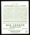 1933 Goudey Reprint #106  Nap Lajoie  Back Thumbnail