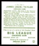1933 Goudey Reprints #152  Zack Taylor  Back Thumbnail