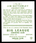 1933 Goudey Reprint #44  Jim Bottomley  Back Thumbnail