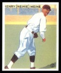 1933 Goudey Reprints #205  Heinie Meine  Front Thumbnail