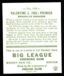 1933 Goudey Reprint #118  Val Picinich  Back Thumbnail