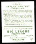 1933 Goudey Reprint #40  Taylor Douthit  Back Thumbnail