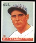 1933 Goudey Reprints #163  Luke Sewell  Front Thumbnail