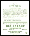 1933 Goudey Reprints #74  Eppa Rixey  Back Thumbnail