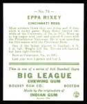 1933 Goudey Reprint #74  Eppa Rixey  Back Thumbnail
