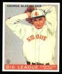 1933 Goudey Reprints #16  George Blaeholder  Front Thumbnail