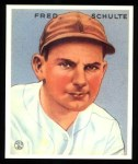 1933 Goudey Reprint #190  Fred Schulte  Front Thumbnail