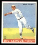 1933 Goudey Reprints #20  Bill Terry  Front Thumbnail