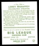 1933 Goudey Reprint #196  Leroy Mahaffey  Back Thumbnail