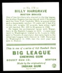 1933 Goudey Reprint #172  Billy Hargrave  Back Thumbnail