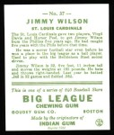 1933 Goudey Reprint #37  Jimmy Wilson  Back Thumbnail