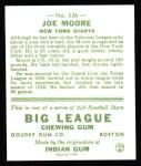 1933 Goudey Reprint #126  Joe Moore  Back Thumbnail
