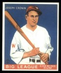 1933 Goudey Reprints #63  Joe Cronin  Front Thumbnail