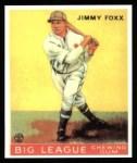 1933 Goudey Reprint #29  Jimmie Foxx  Front Thumbnail