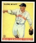 1933 Goudey Reprint #10  Glenn Myatt  Front Thumbnail