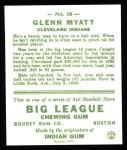 1933 Goudey Reprint #10  Glenn Myatt  Back Thumbnail