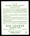 1933 Goudey Reprints #70  Floyd Scott  Back Thumbnail