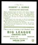1933 Goudey Reprint #71  Robert Burke  Back Thumbnail