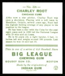 1933 Goudey Reprint #226  Charlie Root  Back Thumbnail