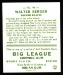 1933 Goudey Reprint #98  Wally Berger  Back Thumbnail