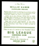 1933 Goudey Reprint #75  Willie Kamm  Back Thumbnail