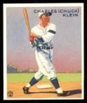 1933 Goudey Reprints #128  Chuck Klein  Front Thumbnail