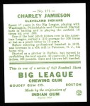 1933 Goudey Reprint #171  Charlie Jamieson  Back Thumbnail