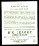 1933 Goudey Reprints #173  Roscoe Holm  Back Thumbnail