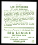 1933 Goudey Reprint #147  Leo Durocher  Back Thumbnail