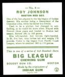 1933 Goudey Reprints #8  Roy Johnson  Back Thumbnail