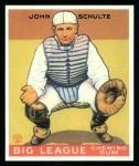 1933 Goudey Reprint #186  John Schulte  Front Thumbnail