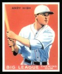 1933 Goudey Reprints #182  Andy High  Front Thumbnail