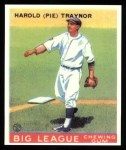 1933 Goudey Reprints #22  Pie Traynor  Front Thumbnail