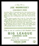 1933 Goudey Reprint #97  Joe Morrissey  Back Thumbnail
