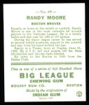 1933 Goudey Reprint #69  Randy Moore  Back Thumbnail