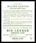 1933 Goudey Reprint #65  Milt Gaston  Back Thumbnail