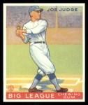 1933 Goudey Reprints #155  Joe Judge  Front Thumbnail