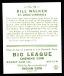 1933 Goudey Reprint #94  Bill Walker  Back Thumbnail