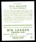 1933 Goudey Reprint #94  Bill Walker  Back Thumbnail