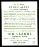 1933 Goudey Reprint #46  Ethan Allen  Back Thumbnail