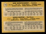 1971 O-Pee-Chee #176   -  Doug Griffin / Bob Montgomery Red Sox Rookies Back Thumbnail