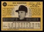 1971 O-Pee-Chee #255  Bob Robertson  Back Thumbnail