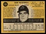 1971 O-Pee-Chee #150  Sam McDowell  Back Thumbnail