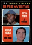 1971 O-Pee-Chee #204   -  George Kopacz / Bernie Smith Brewers Rookies Front Thumbnail