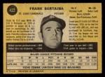 1971 O-Pee-Chee #422  Frank Bertaina  Back Thumbnail