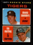 1971 O-Pee-Chee #423   -  Tim Marting / Dennis Saunders Tigers Rookies Front Thumbnail