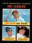 1971 O-Pee-Chee #63   -  Tony Conigliaro / Frank Howard / Boog Powell AL RBI Leaders   Front Thumbnail