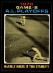 1971 O-Pee-Chee #196   -  Dave McNally 1970 AL Playoffs - Game 2 - McNally Makes it Two Straight Front Thumbnail