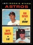 1971 O-Pee-Chee #102   -  Larry Howard / Ken Forsch Astros Rookies Front Thumbnail